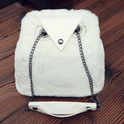 Chains Fuzzy Shoulder Bag