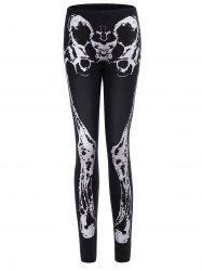 Halloween Skeleton Pattern Leggings -