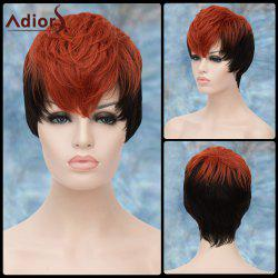 Adiors Short Highlight Layered Full Bang Straight Synthetic Wig
