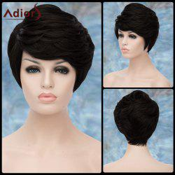 Adiors Shaggy Short Layered Inclined Bang Straight Synthetic Wig