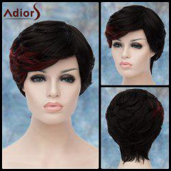 Adiors Short Highlight Layered Side Bang Straight Synthetic Wig