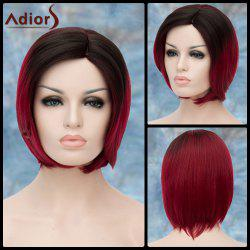 Adiors Short Side Parting Silky Straight Ombre Bob Synthetic Wig