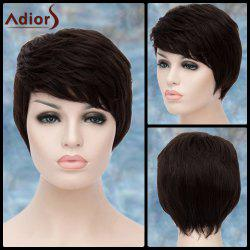 Adiors Short Side Bang Layered Straight Synthetic Wig