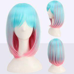 Medium Side Bang Colored Straight Cosplay Synthetic Wig