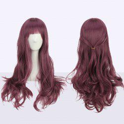 Long Full Bang Slightly Curled Cosplay Synthetic Wig