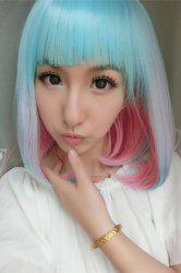 Medium Side Bang Colored Straight Lolita Synthetic Wig