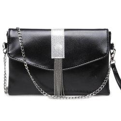 Glitter Chains Fringe Crossbody Envelope Bag -