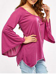Off The Shoulder Handkerchief T-Shirt