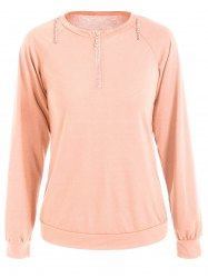 Half Zip Slim Fit Sweatshirt