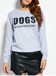 Pullover Design Crew Neck Sweatshirt