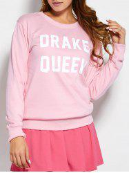 Pullover Sweatshirt With Text -
