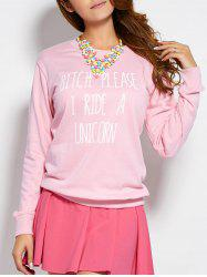 Pullover Text Sweatshirt