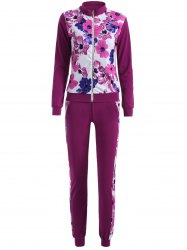 Long Sleeve Floral Printed Sweat Suit Set