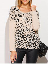 Scoop Neck Long Sleeve Printed T-Shirt