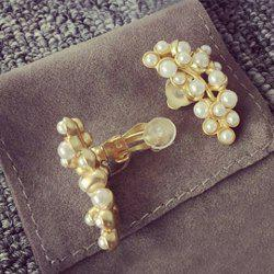 Artificial Pearl Ear Cuffs -