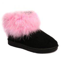 Ankle Flocking Snow Boots - PINK 39