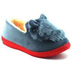 Flocking House Slippers - GRAY