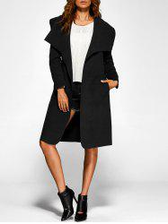 Belted Wrap Shawl Duster Coat -