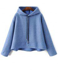 Drawstring Trapeze Hoodie - LIGHT BLUE L