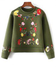 Boxy Embroidered Sweatshirt