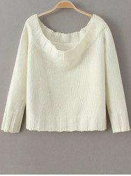 Cropped Off The Shoulder Fitting Sweater -