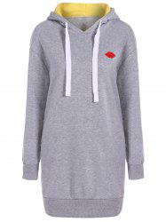 Drawstring Fleece Hoodie Dress