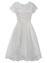 Funky Short Wedding A Line Dress With Sleeves