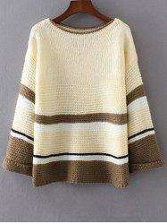 Loose Colorful Color Block Sweater -