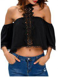 Off The Shoulder Cropped Choker Blouse