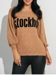 Stockho Graphic Ribbed Knitwear -