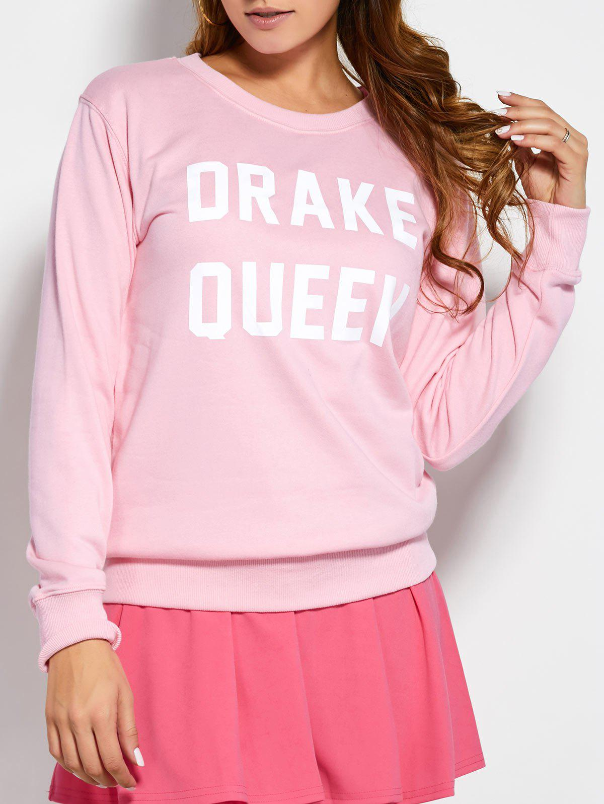Chic Pullover Sweatshirt With Text
