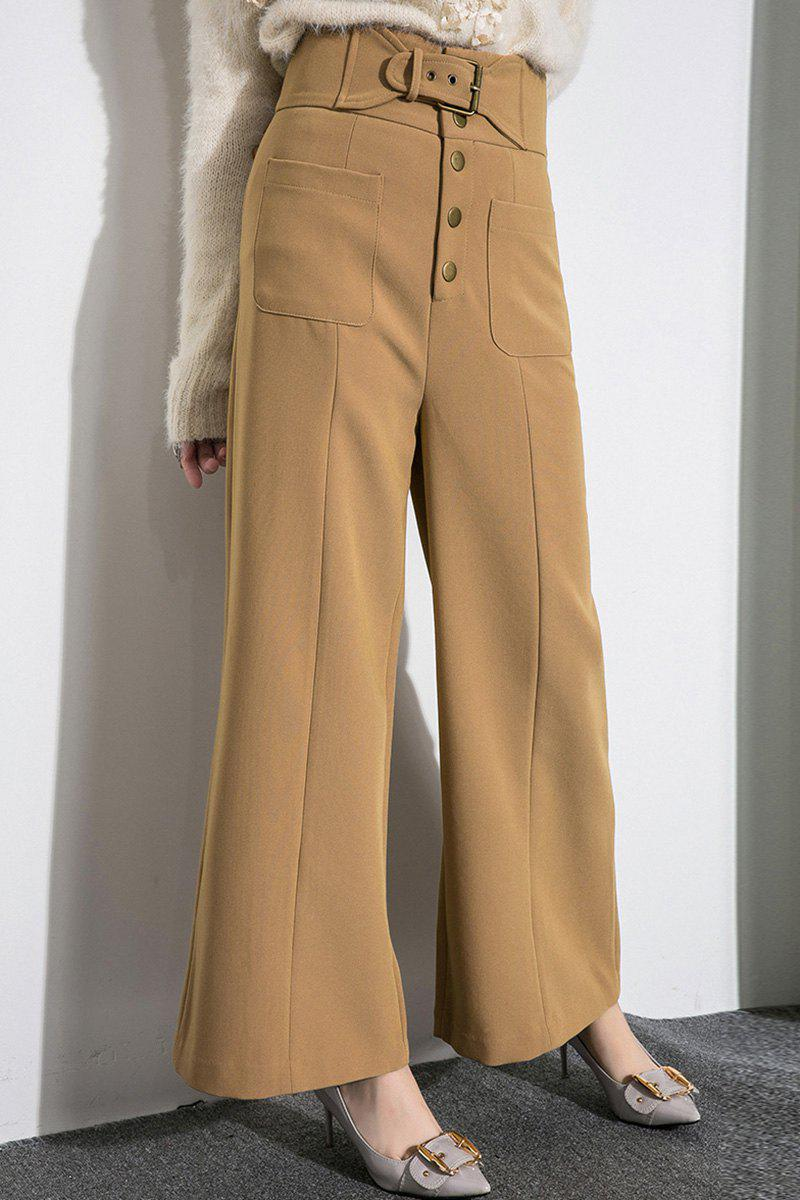 Fashion Belted Middle Waist Palazzo Pants