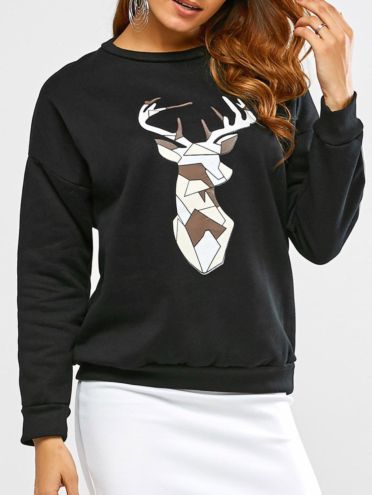 Shop Deer Print Sweatshirt