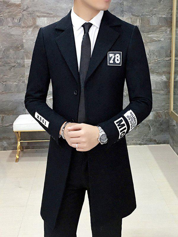 Manteau Slim Fit Patch design Retour Slit Lapel