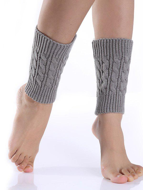 Cable Knitted Boot CuffsACCESSORIES<br><br>Color: LIGHT GRAY; Type: Leg Warmers; Group: Adult; Gender: For Women; Style: Fashion; Pattern Type: Solid; Weight: 0.075kg; Package Contents: 1 x Boot Cuffs(Pair);