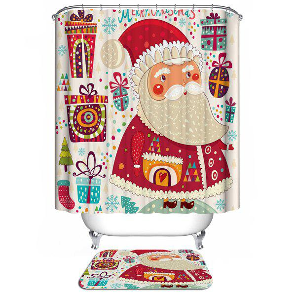 Polyester Waterproof Christmas Gift Washable Bathroom CurtainHOME<br><br>Color: COLORFUL; Type: Shower Curtains; Material: Polyester; Size(L*W)(CM): 180*180; Weight: 0.540kg; Package Contents: 1 x Shower Curtain;