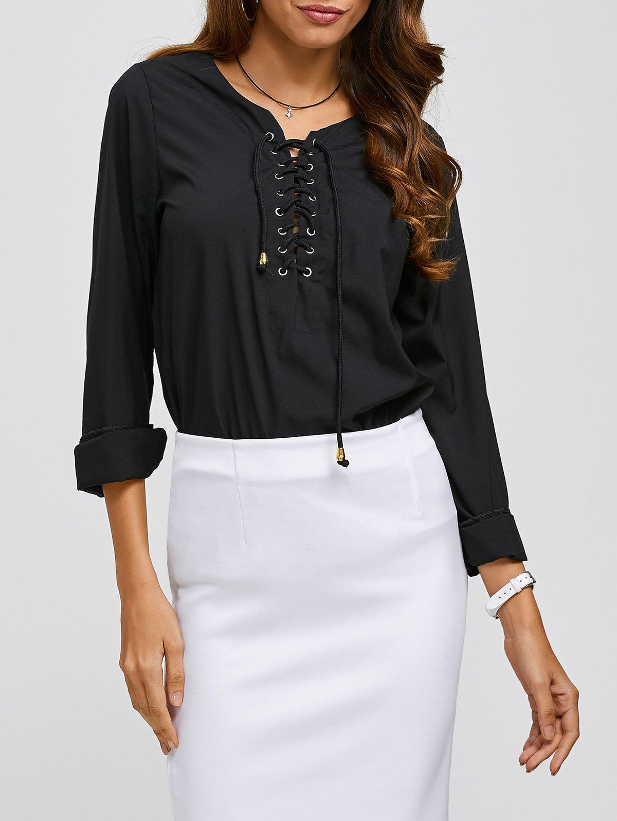 Outfit Criss Cross Long Sleeve Tee