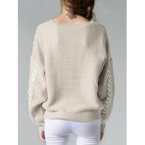 Dropped Shoulder Sweater - OFF-WHITE ONE SIZE