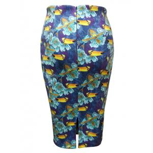Flower Painting Pencil Skirt -