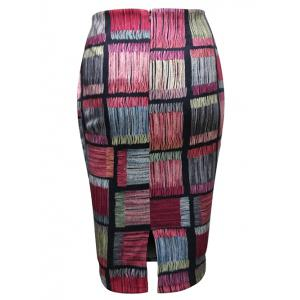 Checked Pattern Pencil Skirt -