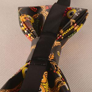 PU Owl In Branch Print Bow Tie -