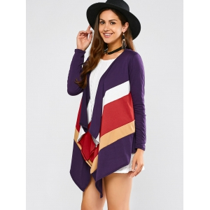 Color Block Waterfall Cardigan -