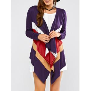 Color Block Waterfall Cardigan
