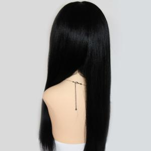 Long Centre Parting Lace Front Straight Indian Human Hair Wig -