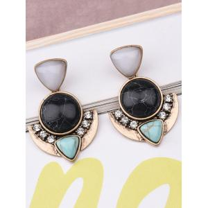 Faux Turquoise Geometric Earrings -