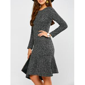 Woolen Asymmetric Fishtail Dress