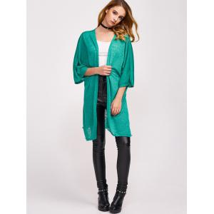 Open Front Side Slit Duster Cardigan -