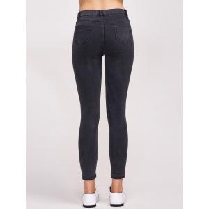 Ninth Length High Waist Skinny Jeans -