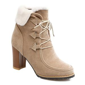 Faux Fur Fold Over Ankle Boots