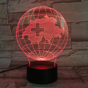 7 Color Touch Changing 3D Tellurion Night Light